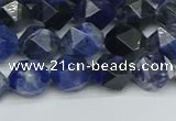 CNG7436 15.5 inches 8mm faceted nuggets sodalite gemstone beads