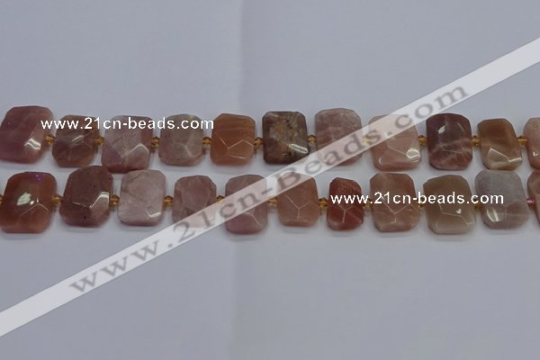 CNG7476 15.5 inches 18*25mm - 20*28mm faceted freeform sunstone beads