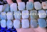 CNG7477 15.5 inches 18*25mm - 20*28mm faceted freeform amazonite beads