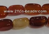 CNG751 15.5 inches 12*20mm nuggets red agate beads wholesale
