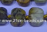 CNG7536 15.5 inches 12*16mm - 15*20mm faceted freeform agate beads