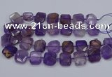 CNG7560 15.5 inches 18*25mm - 20*28mm faceted freeform ametrine beads
