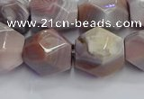 CNG7660 12*16mm - 13*18mm faceted nuggets pink botswana agate beads