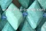 CNG7710 15.5 inches 13*20mm - 15*25mm faceted freeform amazonite beads