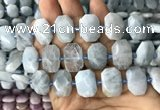 CNG7762 13*18mm - 15*25mm faceted freeform aquamarine beads
