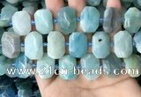 CNG7769 13*18mm - 15*25mm faceted freeform amazonite beads