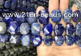 CNG7775 13*18mm - 15*25mm faceted freeform lapis lazuli beads