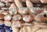 CNG7810 13*18mm - 18*25mm faceted freeform orange moonstone beads