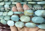 CNG7813 15.5 inches 13*18mm - 18*25mm faceted freeform amazonite beads