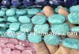CNG7814 15.5 inches 13*18mm - 18*25mm faceted freeform amazonite beads