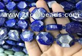 CNG7823 15.5 inches 13*18mm - 18*25mm faceted freeform lapis lazuli beads