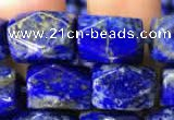 CNG7846 15.5 inches 8*12mm faceted nuggets lapis lazuli beads