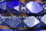 CNG7847 15.5 inches 8*12mm - 9*13mm faceted nuggets lapis lazuli beads