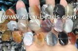 CNG7879 13*18mm - 15*25mm faceted freeform Botswana agate beads