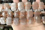 CNG7884 13*18mm - 15*25mm faceted freeform moonstone beads