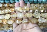 CNG7900 15.5 inches 12*16mm - 15*25mm faceted nuggets citrine beads