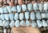 CNG7903 15.5 inches 12*16mm - 15*20mm faceted nuggets aquamarine beads