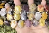 CNG7920 15.5 inches 13*18mm - 15*25mm faceted freeform mookaite beads
