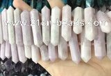CNG7932 15.5 inches 10*22mm - 12*45mm faceted nuggets kunzite beads