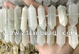 CNG7933 15.5 inches 10*22mm - 12*45mm faceted nuggets moonstone beads