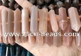 CNG7936 15.5 inches 10*22mm - 12*45mm faceted nuggets moonstone beads