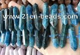 CNG7937 15.5 inches 10*22mm - 12*45mm faceted nuggets apatite beads