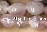 CNG8005 15.5 inches 6*8mm nuggets Madagascar rose quartz beads