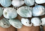 CNG8016 15.5 inches 6*8mm nuggets larimar gemstone beads