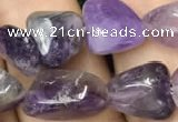 CNG8032 15.5 inches 8*10mm nuggets amethyst gemstone beads