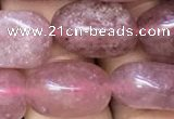 CNG8062 15.5 inches 8*10mm - 10*14mmm nuggets strawberry quartz beads