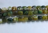 CNG8139 15.5 inches 8*12mm nuggets striped agate beads wholesale
