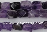 CNG816 15.5 inches 9*12mm faceted nuggets amethyst beads