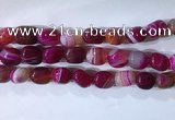 CNG8228 15.5 inches 12*16mm nuggets striped agate beads wholesale