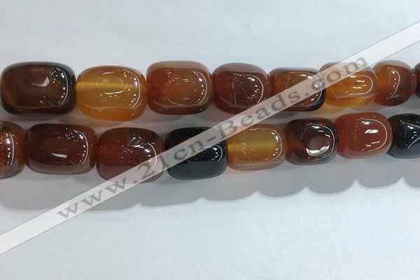 CNG8296 15.5 inches 15*20mm nuggets agate beads wholesale