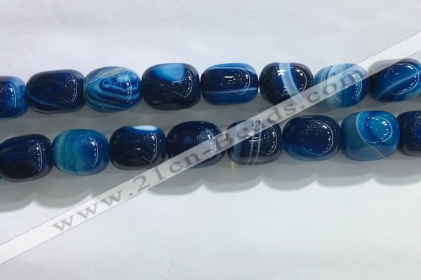 CNG8316 15.5 inches 15*20mm nuggets striped agate beads wholesale
