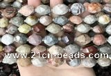 CNG8526 15.5 inches 10*14mm - 12*16mm faceted nuggets fossil coral beads