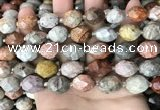 CNG8527 15.5 inches 12*16mm - 13*18mm faceted nuggets fossil coral beads