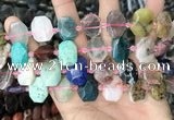 CNG8553 13*18mm - 15*25mm faceted freeform mixed gemstone beads