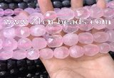 CNG8563 12*16mm - 15*20mm faceted nuggets rose quartz beads