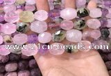 CNG8566 12*16mm - 15*20mm faceted nuggets mixed quartz beads