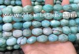 CNG8568 12*16mm - 13*18mm faceted nuggets amazonite beads