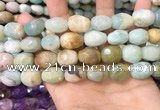 CNG8569 12*16mm - 15*20mm faceted nuggets amazonite beads