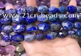 CNG8573 12*16mm - 15*20mm faceted nuggets lapis lazuli beads