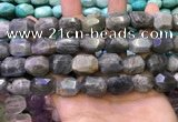 CNG8584 13*18mm - 15*20mm faceted nuggets labradorite beads