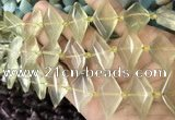 CNG8635 13*20mm - 15*25mm faceted freeform lemon quartz beads