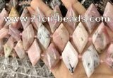 CNG8639 13*20mm - 15*25mm faceted freeform natural pink opal beads