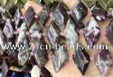 CNG8642 13*20mm - 15*25mm faceted freeform tourmaline beads