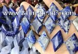 CNG8649 13*20mm - 15*25mm faceted freeform lapis lazuli beads
