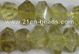 CNG865 15.5 inches 10*15mm � 12*20mm faceted nuggets lemon quartz beads