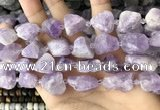CNG8660 15.5 inches 12*16mm - 18*25mm nuggets lavender amethyst beads